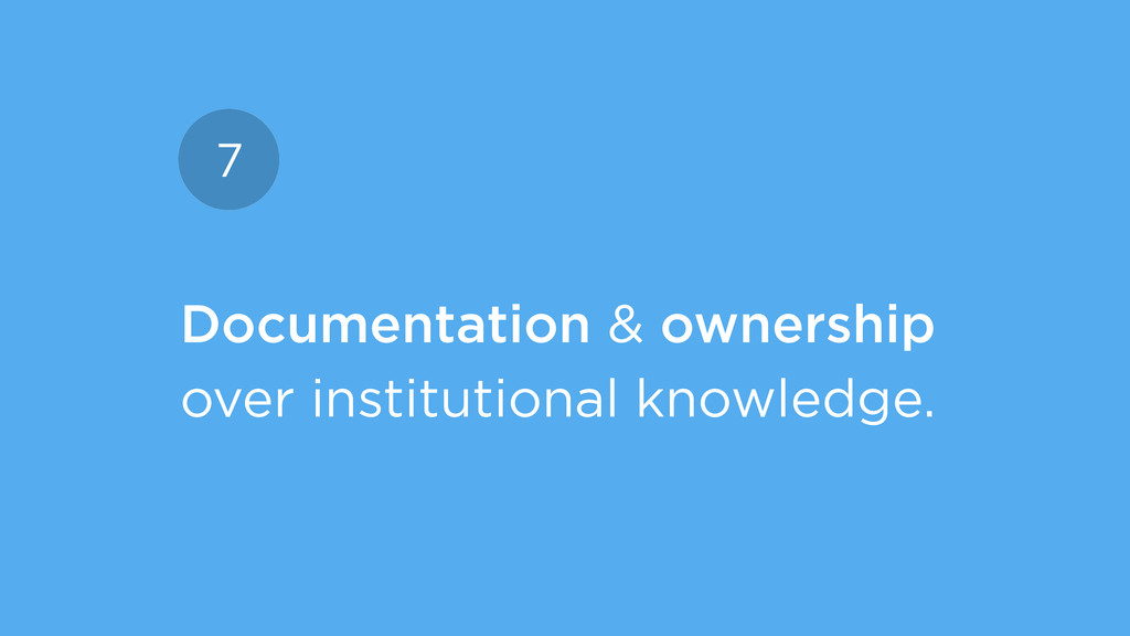 Documentation & ownership over institutional kn...