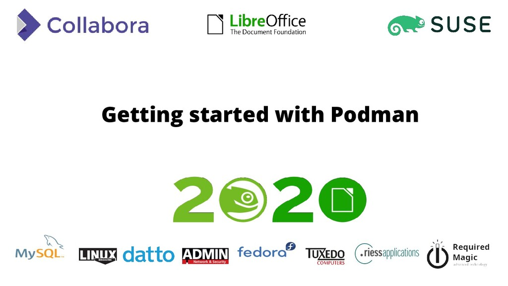 Getting started with Podman