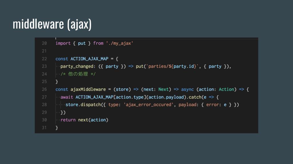 middleware (ajax)