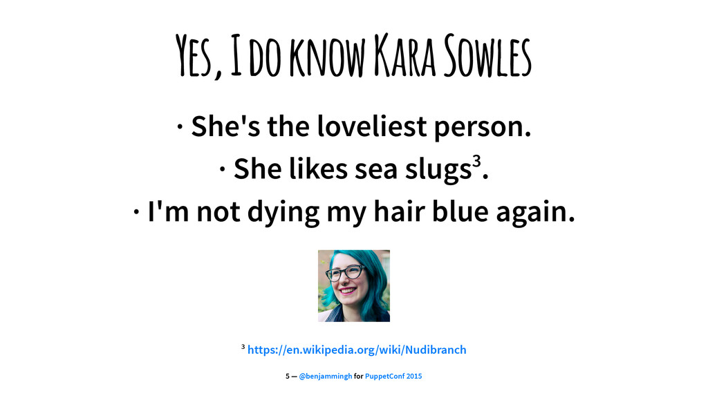 Yes, I do know Kara Sowles · She's the lovelies...