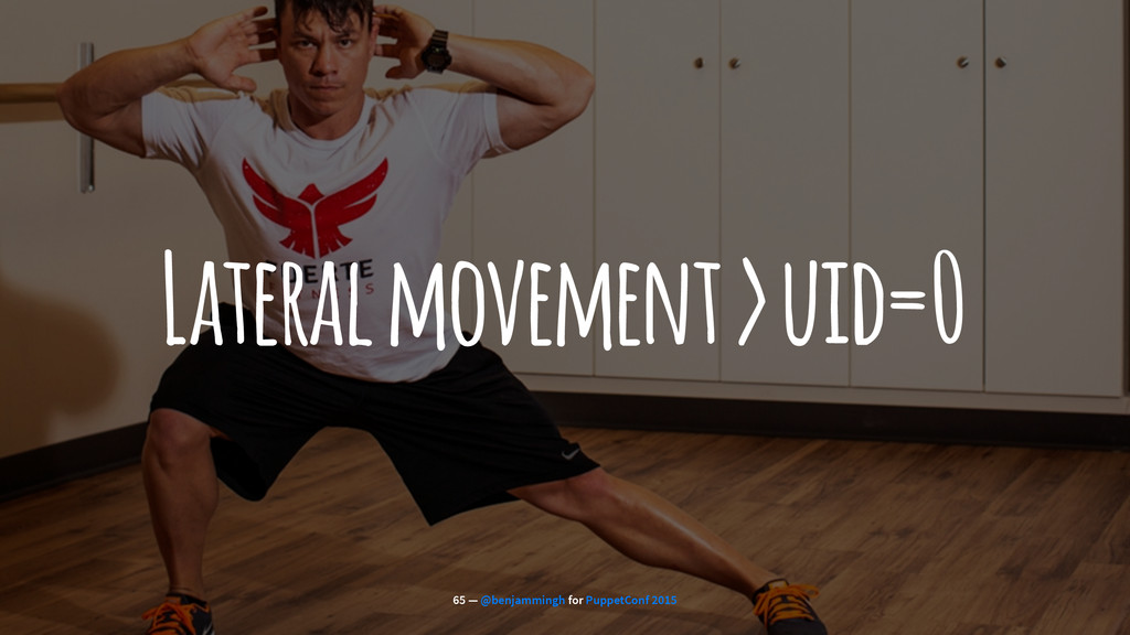 Lateral movement > uid=0 65 — @benjammingh for ...