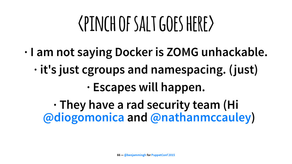 <pinch of salt goes here> · I am not saying Doc...