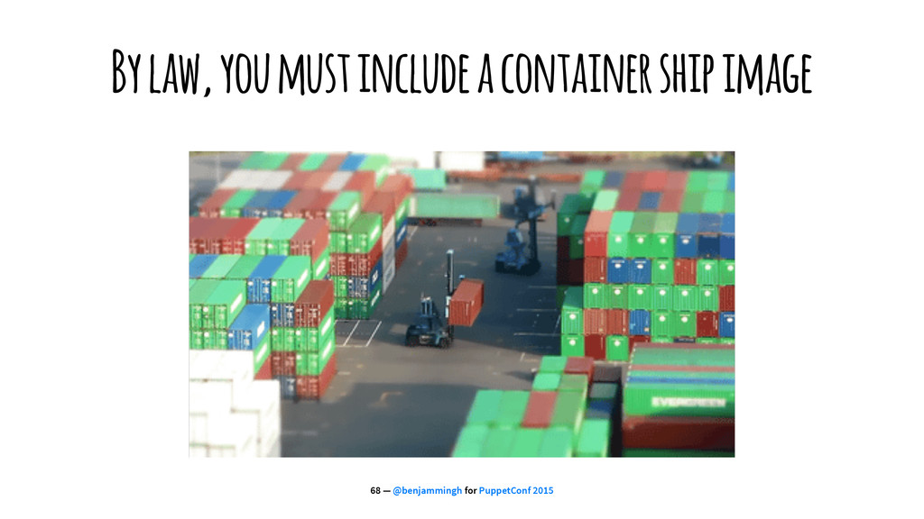 By law, you must include a container ship image...