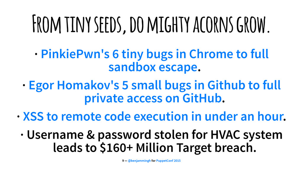 From tiny seeds, do mighty acorns grow. · Pinki...