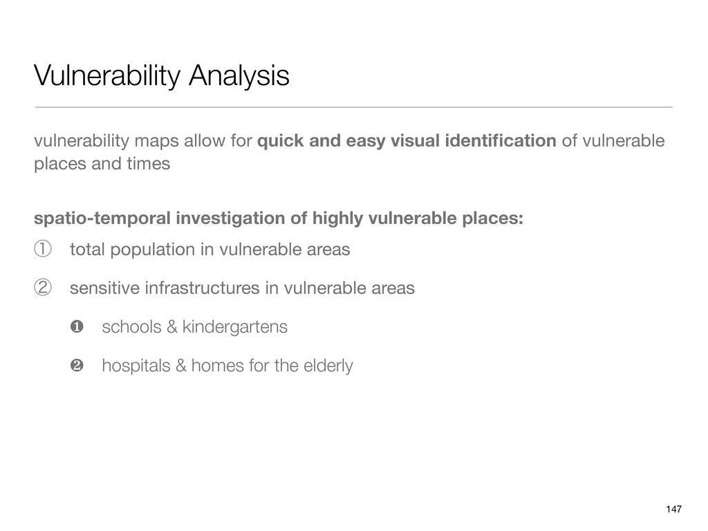 Vulnerability Analysis vulnerability maps allow...