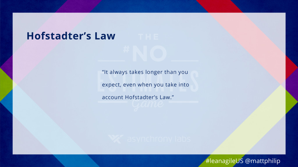 "Hofstadter's Law ""It always takes longer than y..."