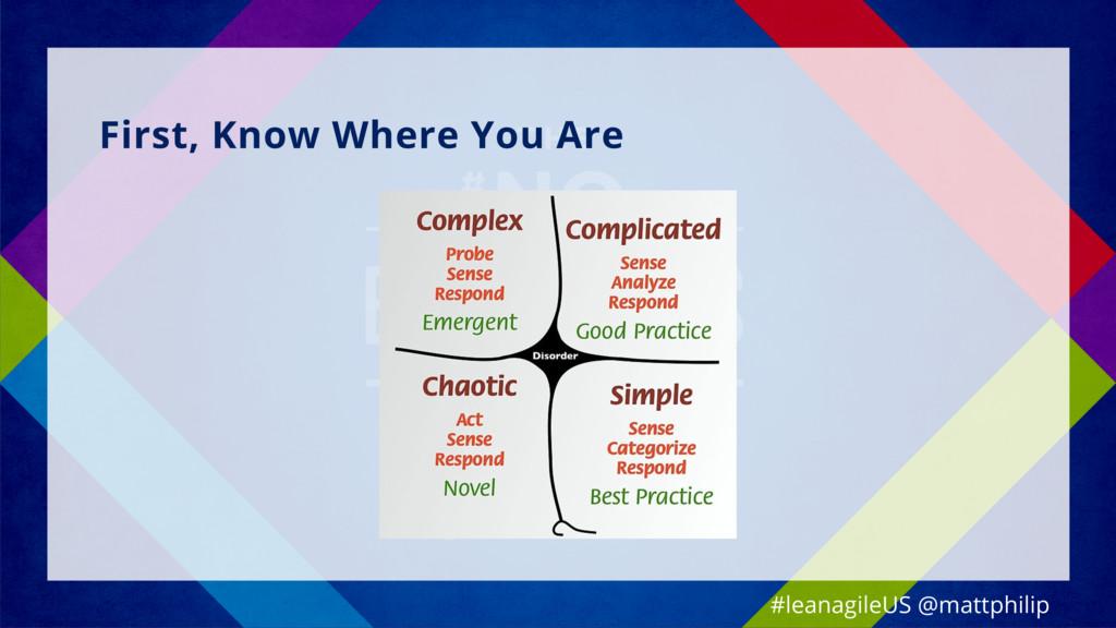 First, Know Where You Are #leanagileUS @mattphi...