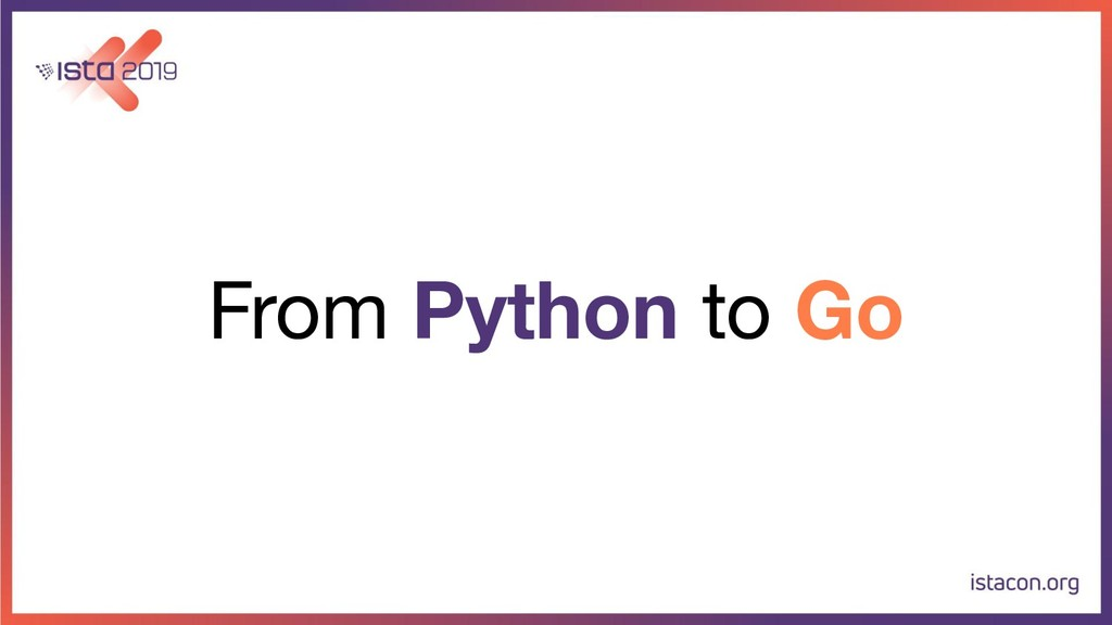 From Python to Go