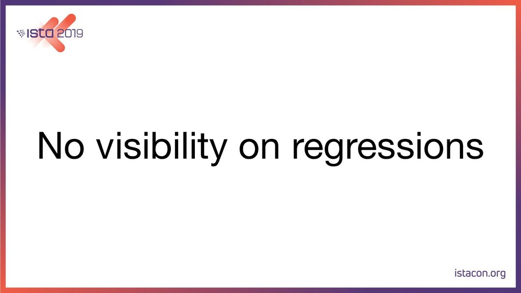 No visibility on regressions