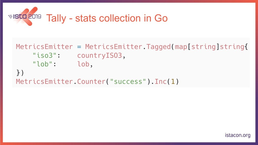 Tally - stats collection in Go