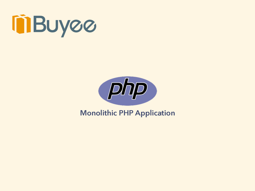Monolithic PHP Application