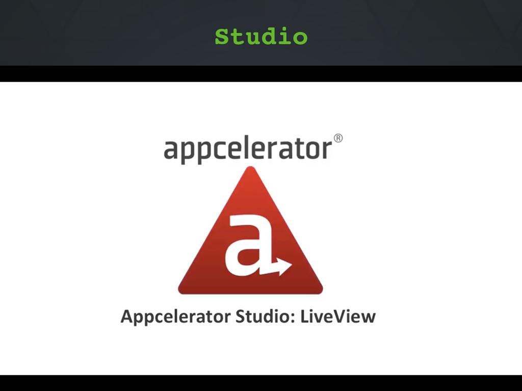 Studio ti build -p ios --liveview