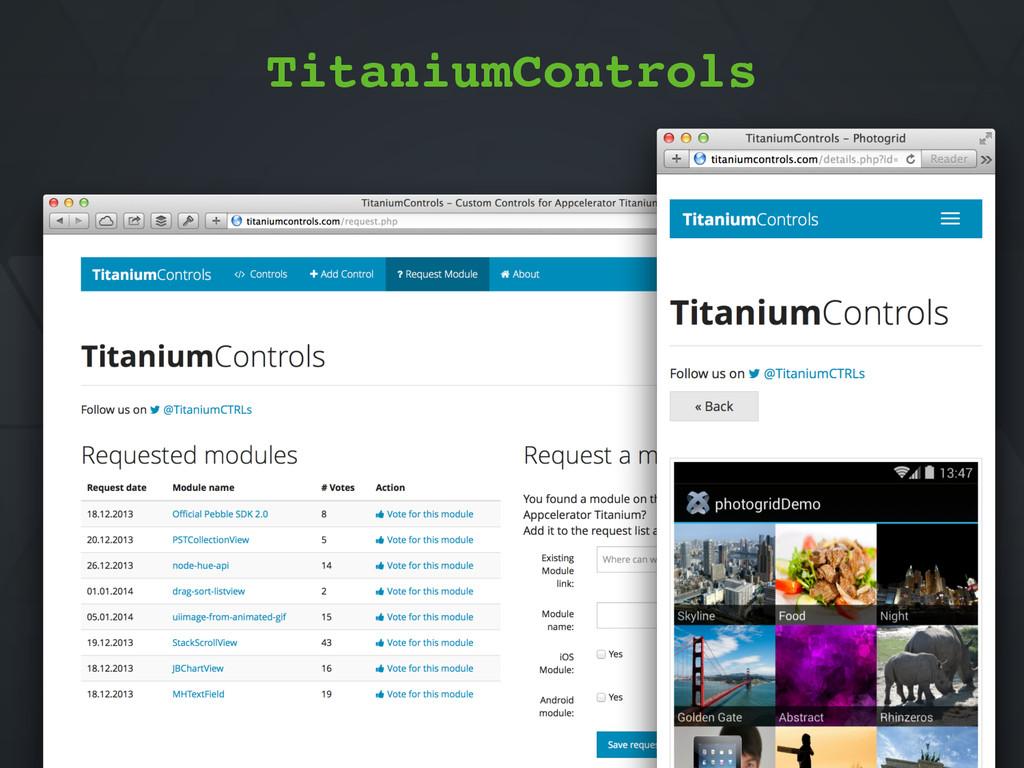 "TitaniumControls.com"" TitaniumControls"