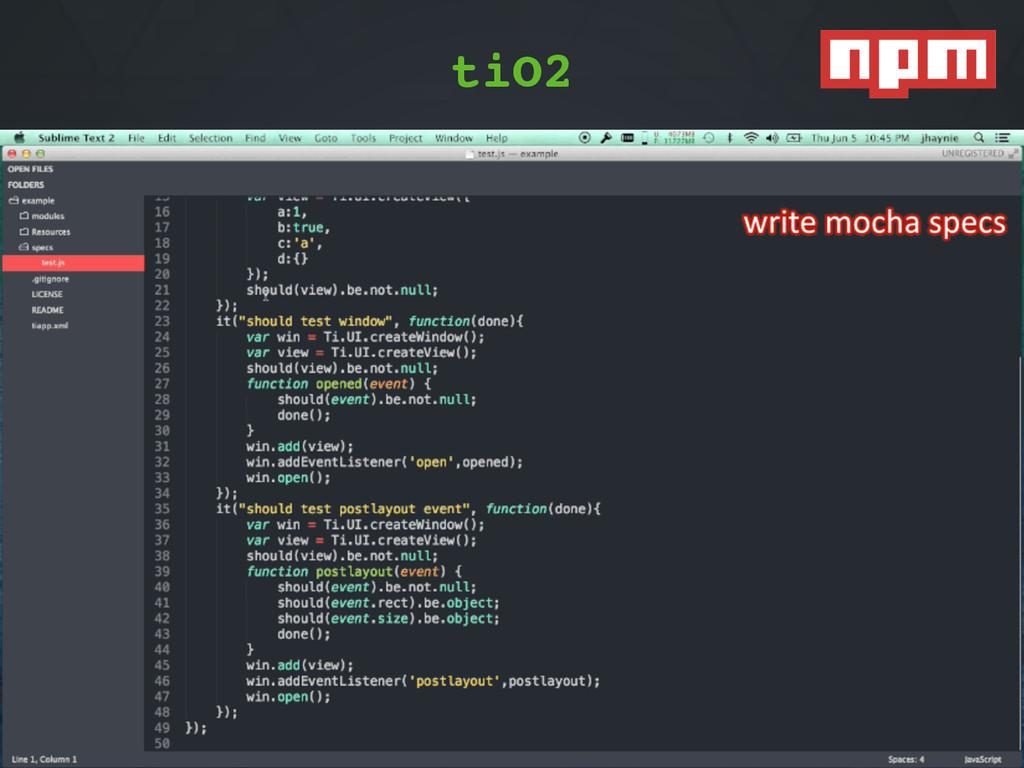 "TiO2""1""npmjs.org/package/tio2 Appcelerator*(Soa..."