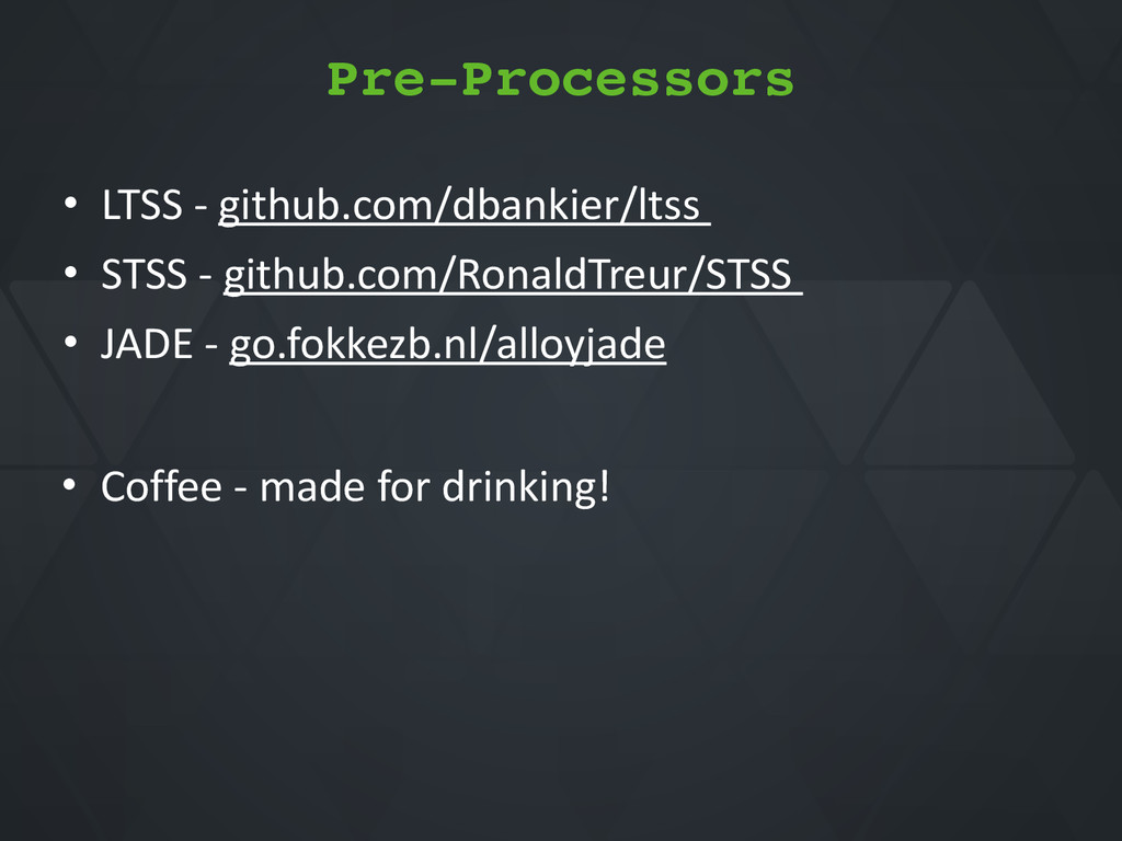 • Coffee*Q*made*for*drinking! • LTSS*Q*github.c...