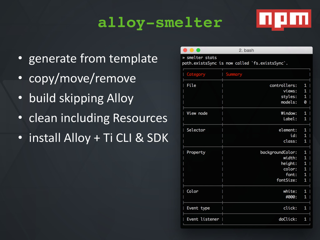 alloy-smelter • generate*from*template* • copy/...