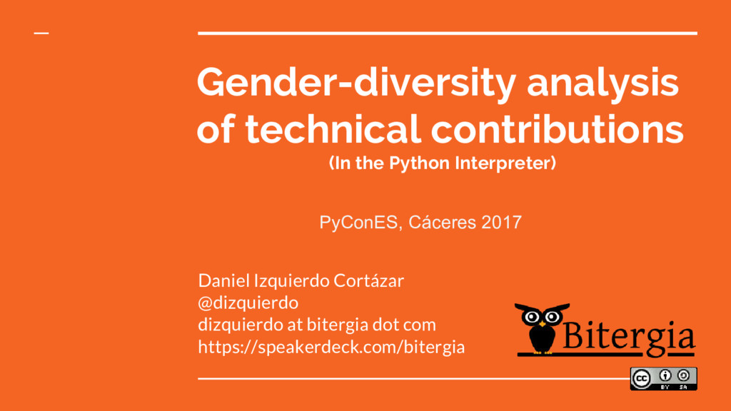 Gender-diversity analysis of technical contribu...