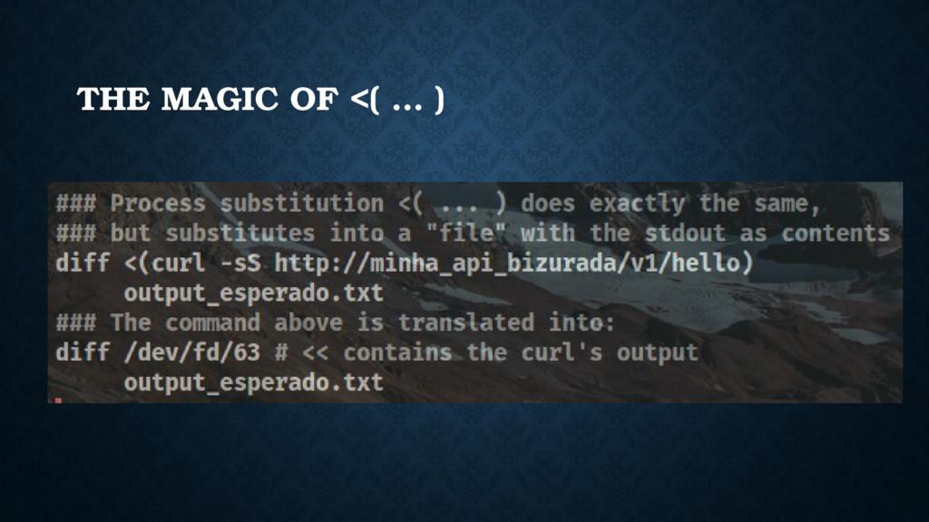 THE MAGIC OF <( … )