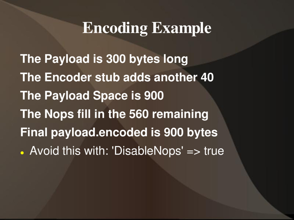 Encoding Example The Payload is 300 bytes long ...
