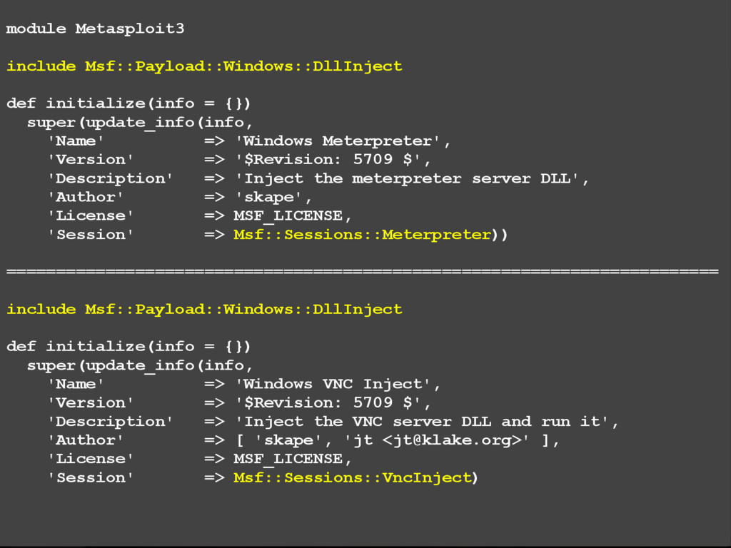 module Metasploit3 include Msf::Payload::Window...
