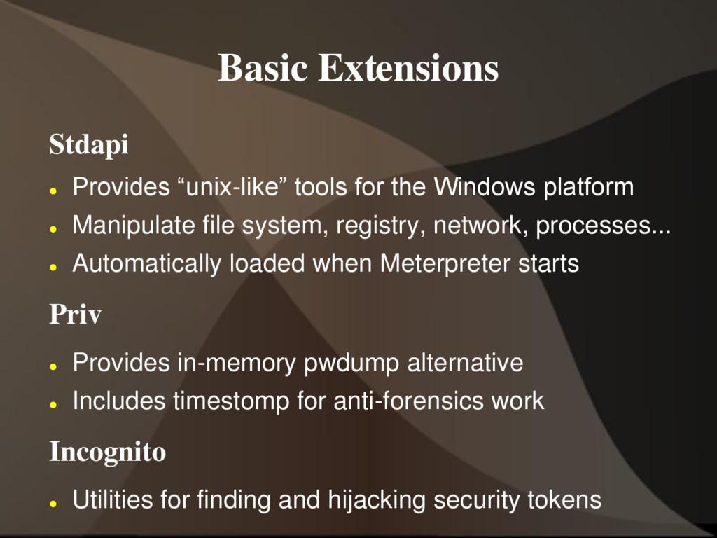 "Basic Extensions Stdapi  Provides ""unix-like"" ..."