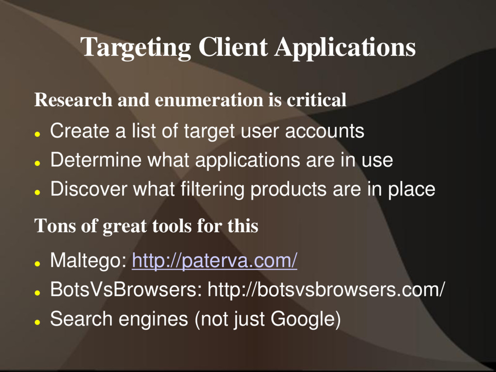 Targeting Client Applications Research and enum...