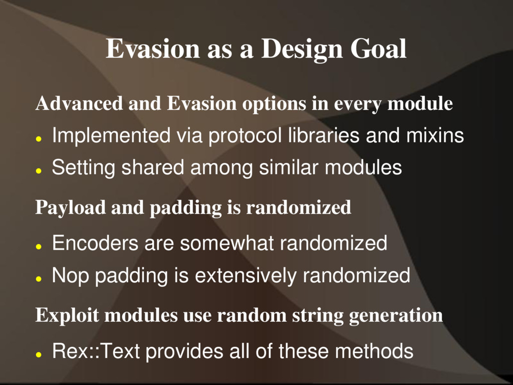 Evasion as a Design Goal Advanced and Evasion o...