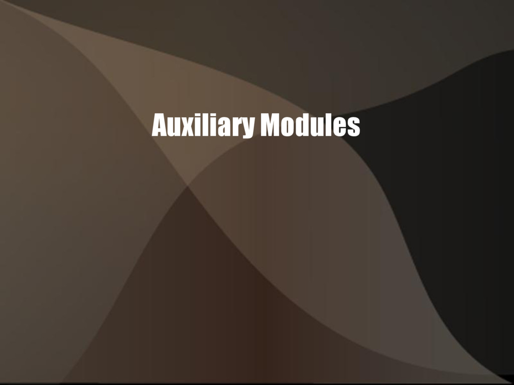 Auxiliary Modules