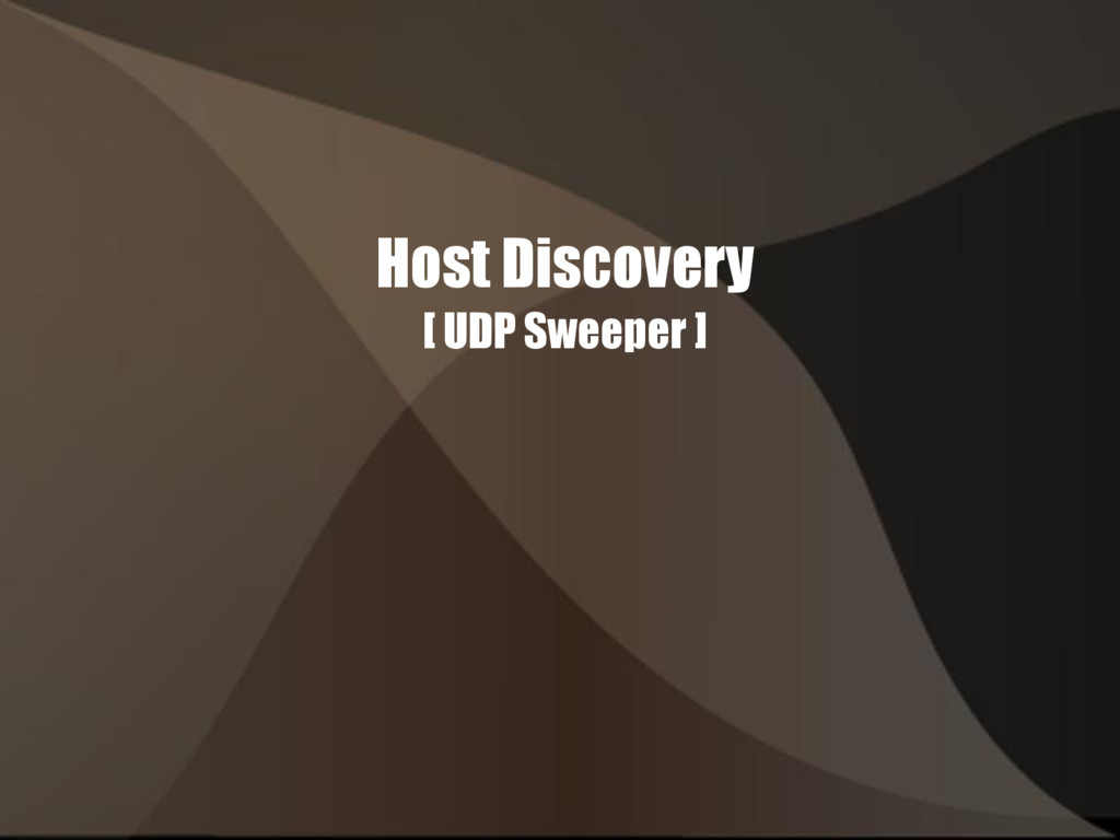 Host Discovery [ UDP Sweeper ]