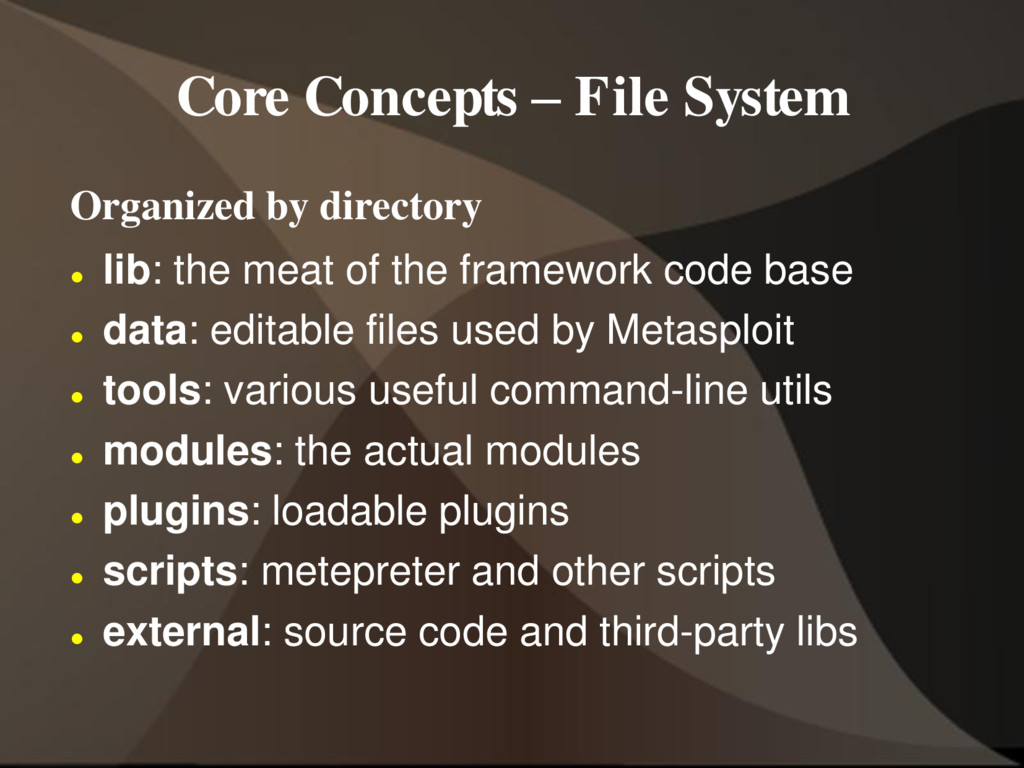 Core Concepts – File System Organized by direct...
