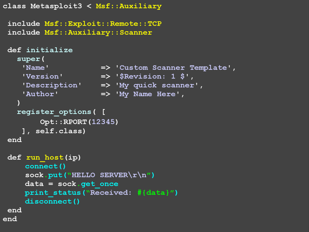 class Metasploit3 < Msf::Auxiliary include Msf:...