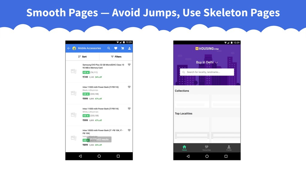 Smooth Pages — Avoid Jumps, Use Skeleton Pages