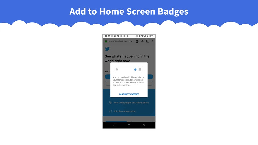 Add to Home Screen Badges