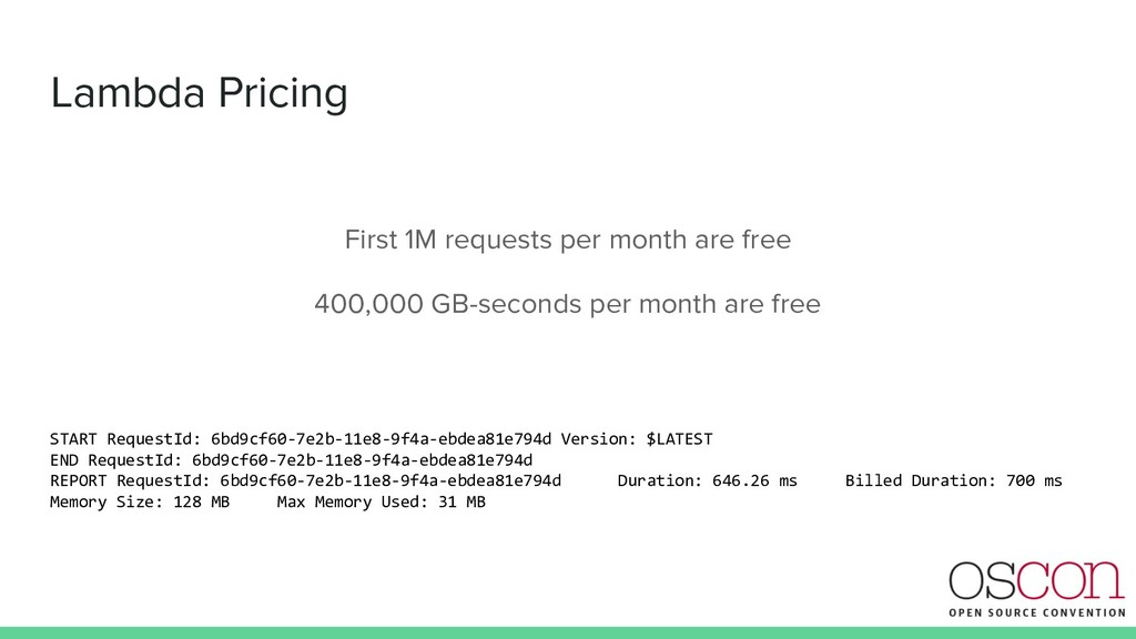 Lambda Pricing First 1M requests per month are ...