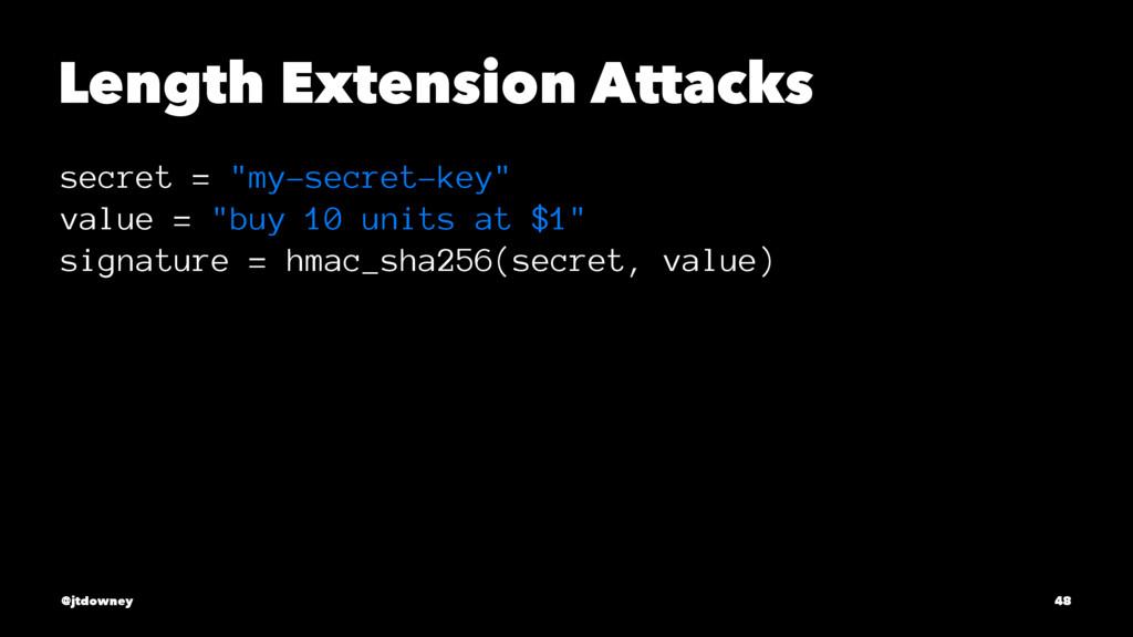 "Length Extension Attacks secret = ""my-secret-ke..."
