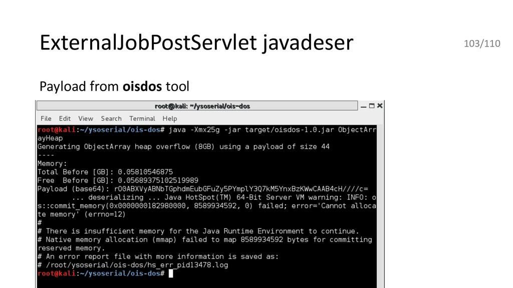 ExternalJobPostServlet javadeser Payload from o...