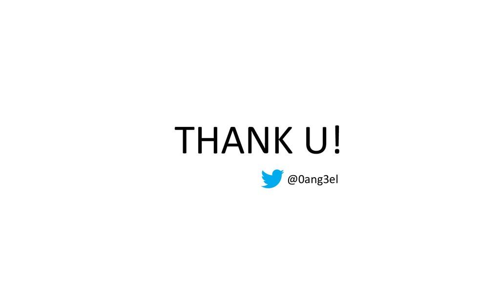 THANK U! @0ang3el