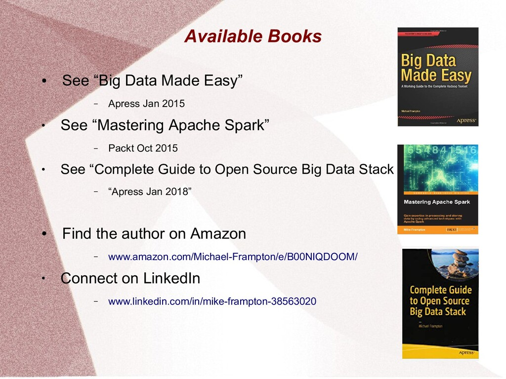 """Available Books ● See """"Big Data Made Easy"""" – Ap..."""