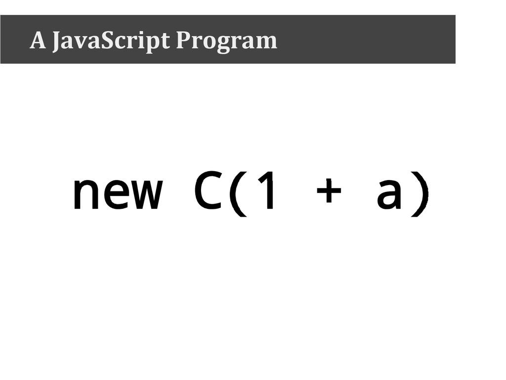 new C(1 + a) A JavaScript Program