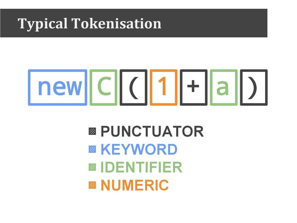 new C ( 1 + a ) ▩ PUNCTUATOR ▩ KEYWORD ▩ IDENTI...