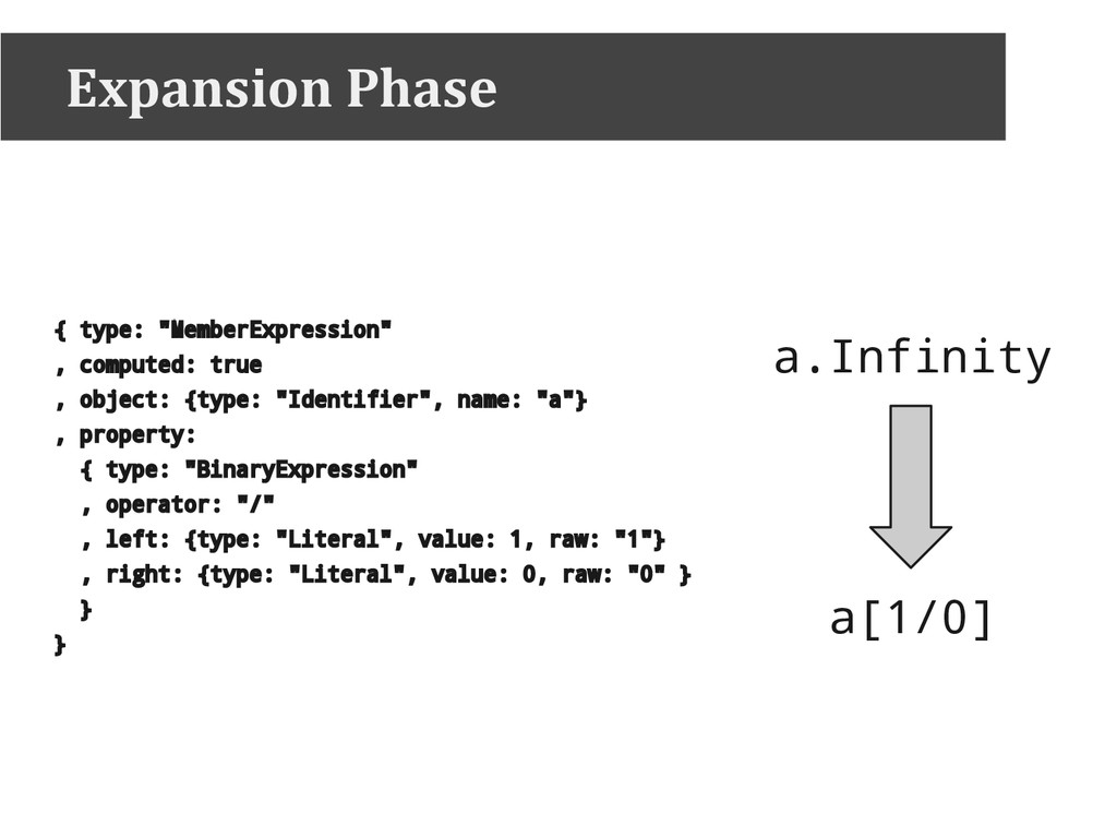 "Expansion Phase { type: ""MemberExpression"" , co..."