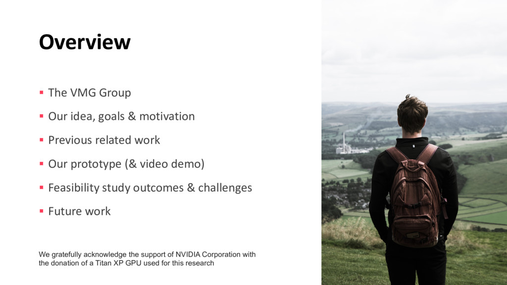 Overview § The VMG Group § Our idea, goals & mo...