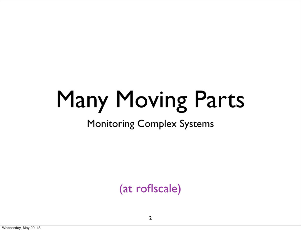 Many Moving Parts Monitoring Complex Systems (a...