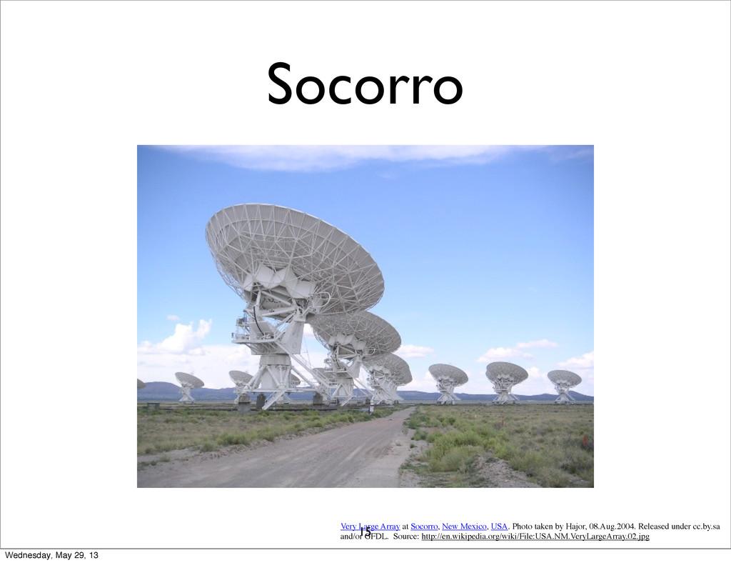 Socorro Very Large Array at Socorro, New Mexico...