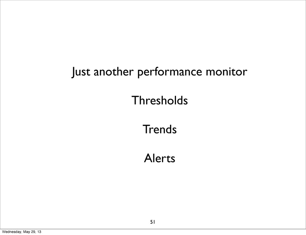 Just another performance monitor Thresholds Tre...