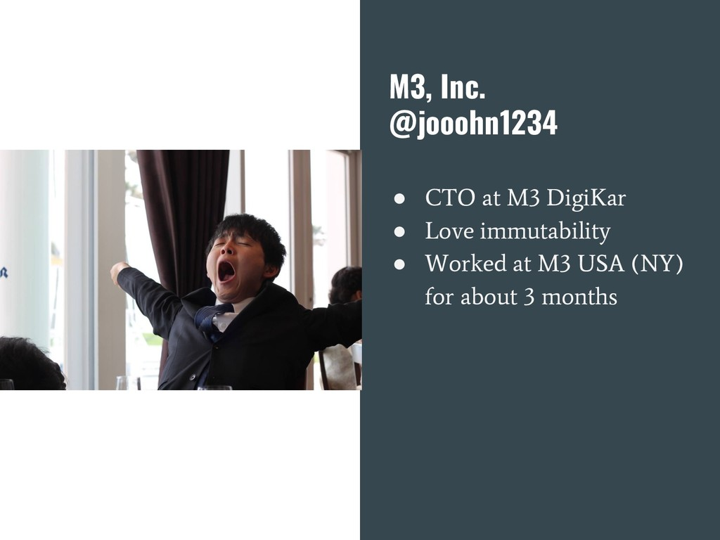 M3, Inc. @jooohn1234 ● CTO at M3 DigiKar ● Love...