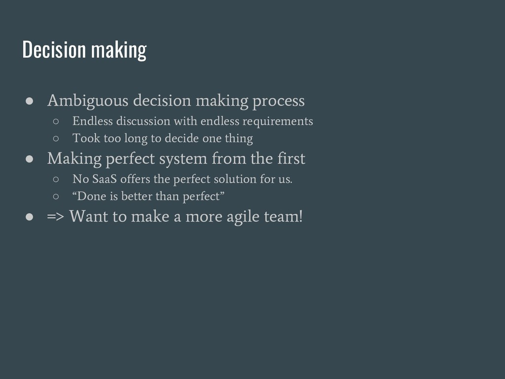 Decision making ● Ambiguous decision making pro...