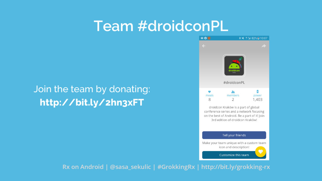Team #droidconPL Join the team by donating: htt...