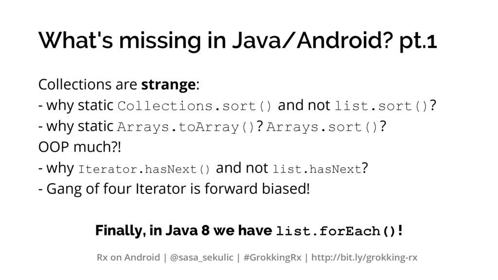 What's missing in Java/Android? pt.1 Collection...