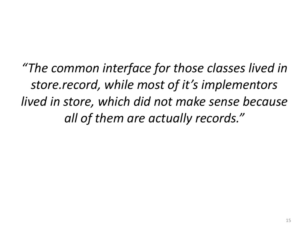 """15 """"The common interface for those..."""